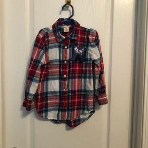 Arizona plaid girl's shirt